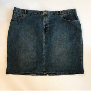 JONES NEW YORK Plus Denim Skirt 24W/24X